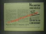 1932 Squibb Adex Tablets-10 D Ad - Many People Blame