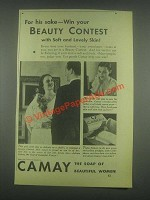 1932 Camay Soap Ad - Win Your Beauty Contest