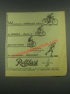 1932 Rollfast Bicycles, Playcycle, Roller Skates Ad