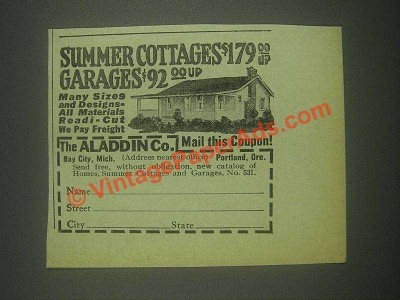 1932 The Aladdin Co. Houses Ad - Summer Cottages