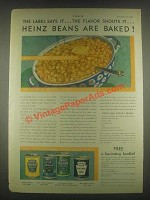 1931 Heinz Baked Beans Ad - The Flavor Shouts
