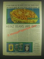 1931 Heinz Baked Beans Ad - If You Think All the Beans