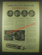 1931 Barbasol Shaving Cream Ad - Lew Ayres, Don Miller