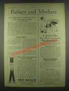 1931 Hickory Children's Garters Ad - Fathers Mothers