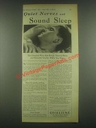 1931 Ovaltine Drink Ad - Quiet Nerves And Sound Sleep
