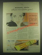 1931 Ipana Tooth Paste Ad - Massage Flabby Gums