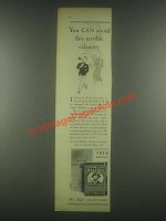 1931 Sir Walter Raleigh Tobacco Ad - Avoid Calamity