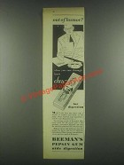 1931 Beeman's Pepsin Gum Ad - Out of Humor?