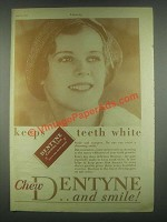1931 Dentyne Gum Ad - Keeps Teeth White