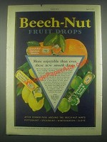 1931 Beech-Nut Fruit Drops Ad - More Enjoyable