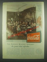1931 Coca-Cola Soda Ad - The Nation's Business Welcomes