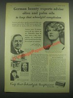 1931 Palmolive Soap Ad - German Beauty Experts Advise