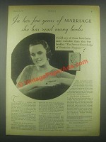 1931 Zonite Feminine Products Ad -  Years of Marriage