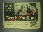 1931 Beech-Nut Gum Ad - After Your Every Smoke