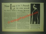 1931 Jad Salts Ad - Lose 4 to 7 Pounds in One Week