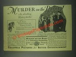1930 Columbia Murder on the Roof Movie Ad - D. Revier