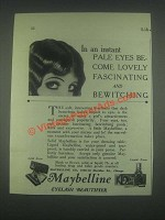 1925 Maybelline Eyelash Beautifier Ad - In an Instant