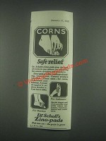 1925 Dr. Scholl's Zino-Pads Ad - Corns Safe Relief