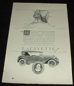 1923 Lafayette Car Ad, Pirate Ship Treasure!!
