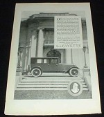 1923 Lafayette Car Ad, Superb Power!!