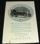 1923 Lafayette Car Ad, Gain from Motoring!!