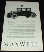 1923 Maxwell 4-passenger Coupe Ad, Immenseley Bettered!