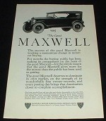 1923 Maxwell Touring Car Ad, Working Momentous Change!!