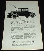 1923 Maxwell Club Coupe Car Ad - Swiftness!!