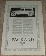 1923 Packard Single Six 5-passenger Sedan Car Ad, NICE!