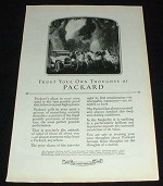 1923 Packard Car Ad - Trust Your Thoughts!!