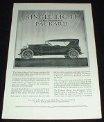 1923 Packard Single Eight Car Ad - A New Production!