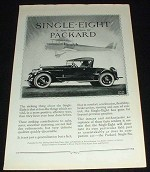 1923 Packard Single Eight Car Ad - New by Packard!!