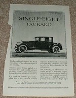 1923 Packard Single Eight Car Ad - New Packard!