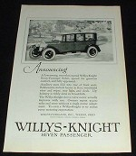1923 Willys-Knight 7-Passenger Sedan Car Ad NICE!!