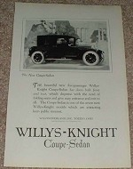 1923 Willys-Knight Coupe Sedan Car Ad - NICE!!!