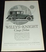 1923 Willys-Knight Coupe Sedan Car Ad, NICE!!