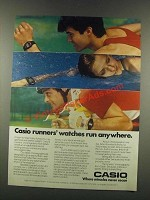 1985 Casio J-30W, J-51W, S-50W, S-52W Watches Ad