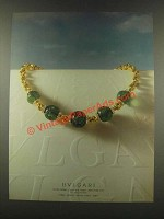 1985 Bvlgari Bulgari Necklace Ad