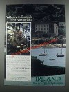 1985 Ireland Tourism Ad - Europe's First Port-of-Call