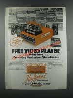 1985 U-Haul Haullywood Video Rentals Ad - Player
