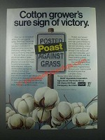 1985 BASF Poast Herbicide Ad - Cotton Grower'sf Victory