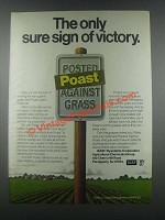1985 BASF Poast Herbicide Ad - Sure Sign of Victory