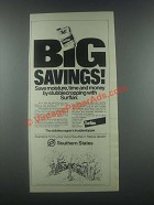 1985 Southern States Elanco Surflan Ad - Big Savings