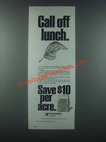 1985 Cyanamid Thimet Ad - Call Off Lunch