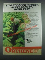1985 Ortho Orthene Ad - Stop Tobacco Insects