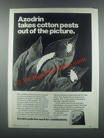1985 Shell Azodrin 5 Ad - Takes Cotton Pests Out
