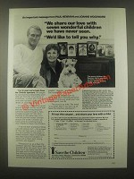 1985 Save The Children Ad - Paul Newman, J. Woodward