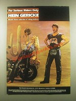 1985 Hein Gericke Riding leathers Ad - Serious Riders