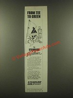 1985 Standard Golf Pro-Line Ad - From Tee to Green