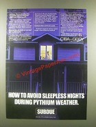 1985 Ciba-Geigy Subdue Ad - Avoid Sleepless Nights